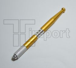 Caneta Tebori Alumínio Dourada Metálica - Ref.2830