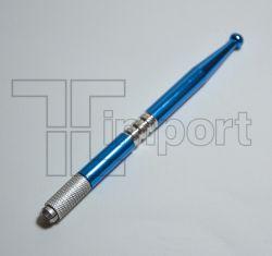 Caneta Tebori Aluminio Azul Metálica - Ref.2820