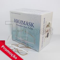 Mascara HIGIMASK M5  KIT 10 UNID.- Proteção Salivar