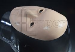 1 Pele Meio Rosto Realistico 3D p/Treino Ref.6171
