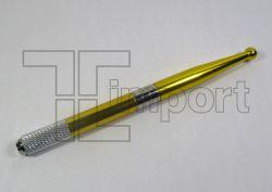 Caneta Tebori Aluminio Amarela Metálica - Ref.0733