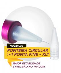 Ponteira Circular Fine - Caixa com 10 unid. - Dermomag