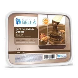 Cera Quente em Barra - NEGRA 1 kg - Depil Bella