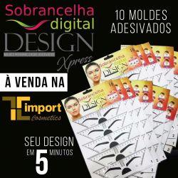Design Xpress - 10 Moldes Adesivados - Sobrancelha Digital