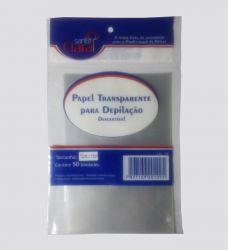 PAPEL TRANSPARENTE PARA DEPILACAO (Pct 50 Unid)