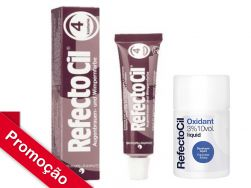 Kit RefectoCil N°4.0 (Castanho Avermelhado) + Oxidante 100ml