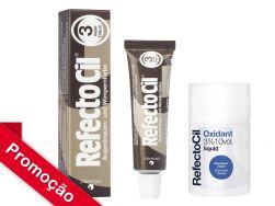 Kit  RefectoCil N°3.0 (Castanho Natural ) +Oxidante 50ml