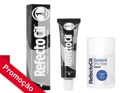 Kit  RefectoCil N°1.0 (Preto ) +Oxidante 100ml