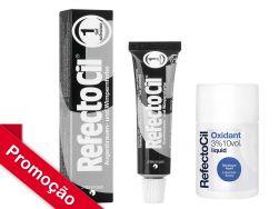 Kit  RefectoCil N°1.0 (Preto ) +Oxidante 100ml