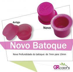 Batoque GR - Rosa para anel plástico (Pct 50 unid.)