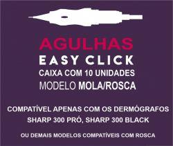 Agulha 1RL 0.30mm MOLA/ROSCA - c/ 10 Unid. (Easy Click) - Dermocamp