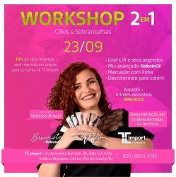Workshop 2 em 1 - Cílios e sobrancelhas by Refectocil