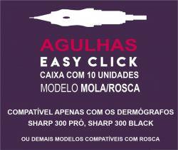 Agulha 5F  LINEAR 0.30mm - MOLA/ROSCA- caixa c/ 10 Unid. (Easy Click) Dermocamp
