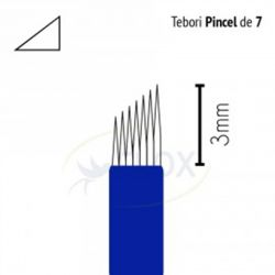 CANETA TEBORI CAN CAN - 7 PONTAS - PINCEL - DESCARTAVEL