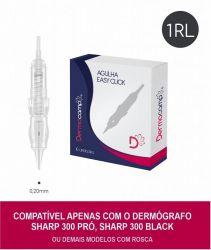 Agulha 1RL 0,20mm MICRO- MOLA- ROSCA  (Easy Click) - Dermocamp