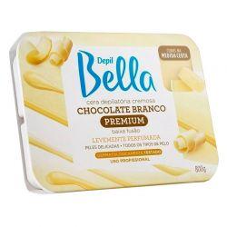 Cera Quente em Barra Chocolate Branco - 800g- Depil Bella
